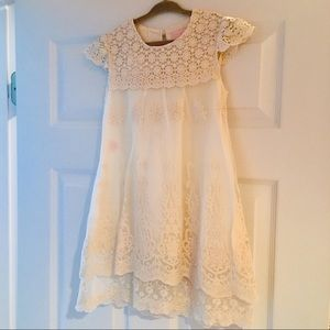 Boutique Girls Size 4 Lace Flower Girl Dress